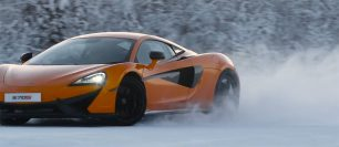 (VIDEO) McLaren 570S on a frozen lake