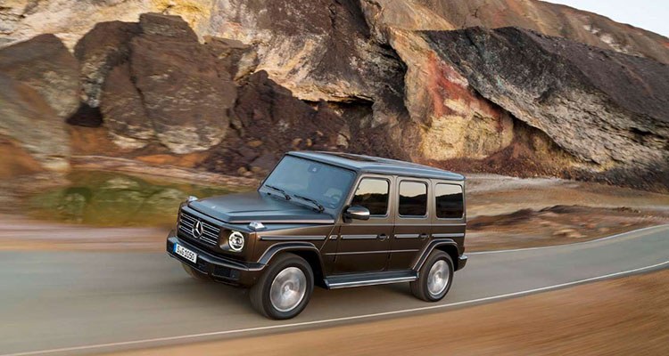 mercedes benz g-class side front
