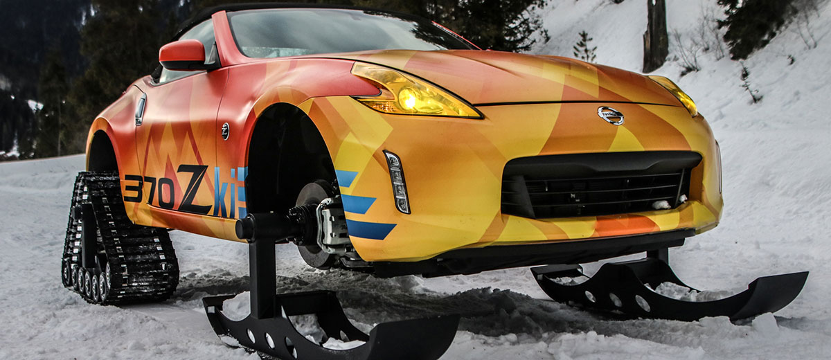 nissan 370zki snowmobile feature