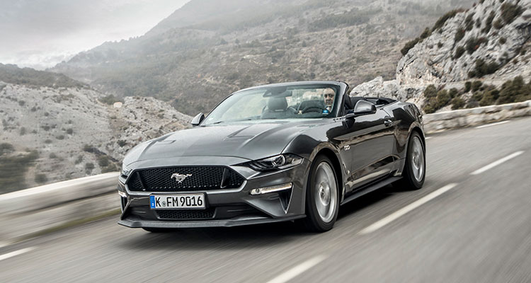 Ford Mustang grey convertible
