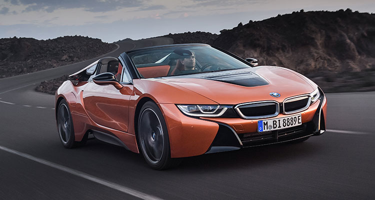 BMW i8 Convertible front side 3