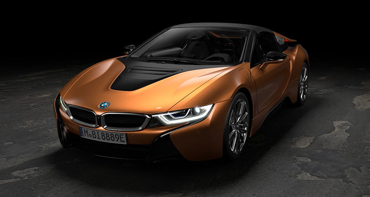 BMW i8 Convertible front side 5