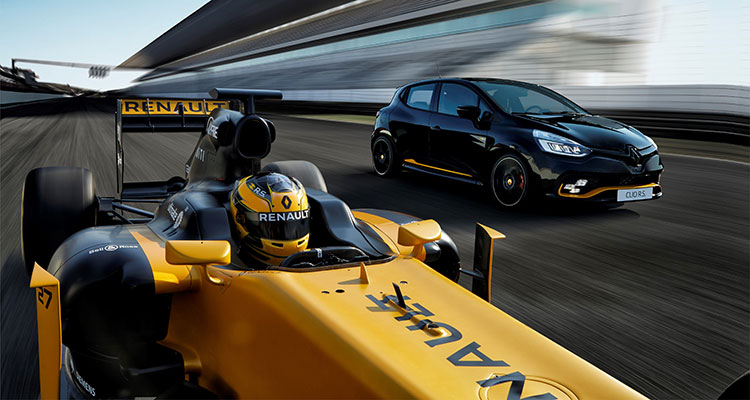 Renault Clio R.S.18 with Renault F1 Car 1