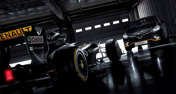 Renault Clio R.S.18 with Renault F1 Car 2