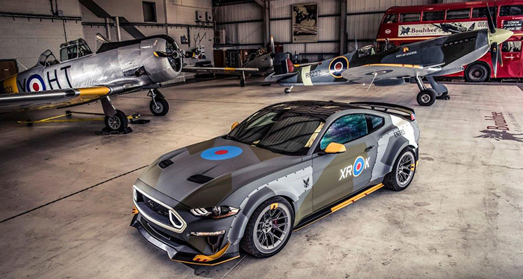 Ford Mustang and Spitfire aerial shoot 2