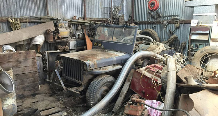 barn find 1943 wilys jeep 1
