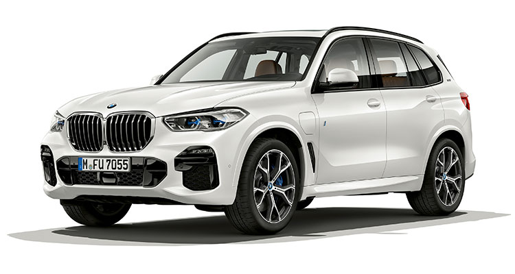 BMW X5 xDrive45e iPerformance exterior front side 1