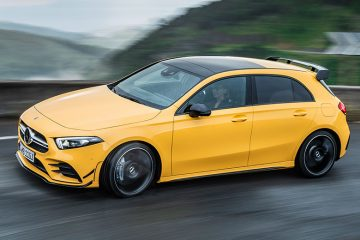 New Mercedes-AMG A35 front feature