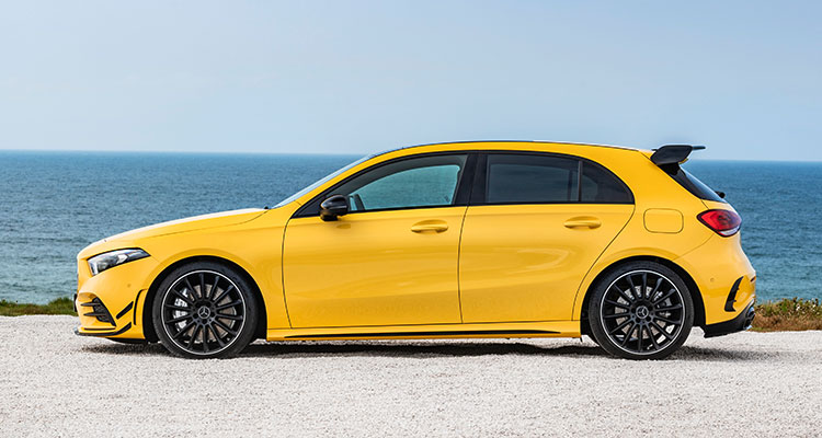 New Mercedes-AMG A35 side 1