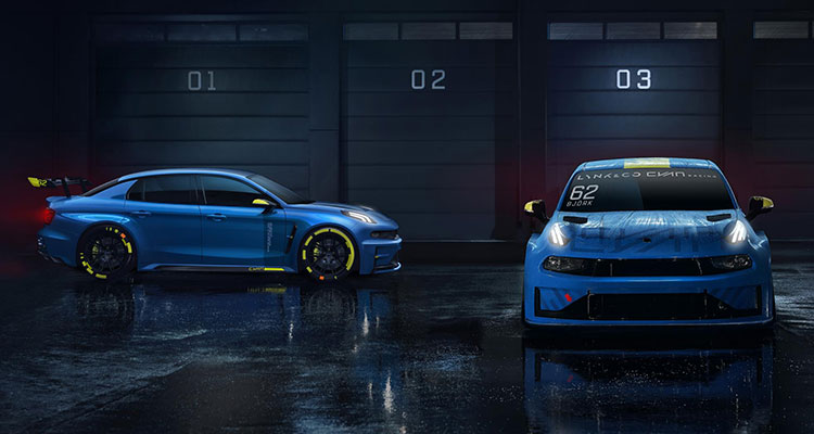 Lynk & Co Hint at 500bhp Hot Saloon Racer side and front