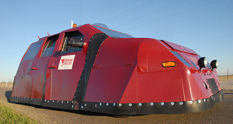 storm chasing dominator vehicle front side