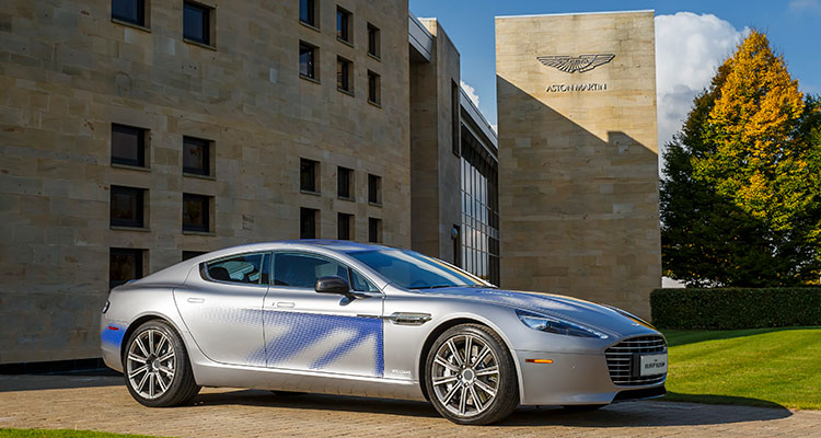Aston Martin RapidE front side 1