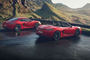 Porsche 718 Cayman T and 718 Boxster T feature