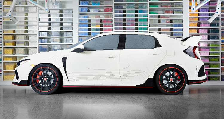 Life-Sized, 100% LEGO Honda Civic Type R 1