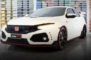 Life-Sized, 100% LEGO Honda Civic Type R feature