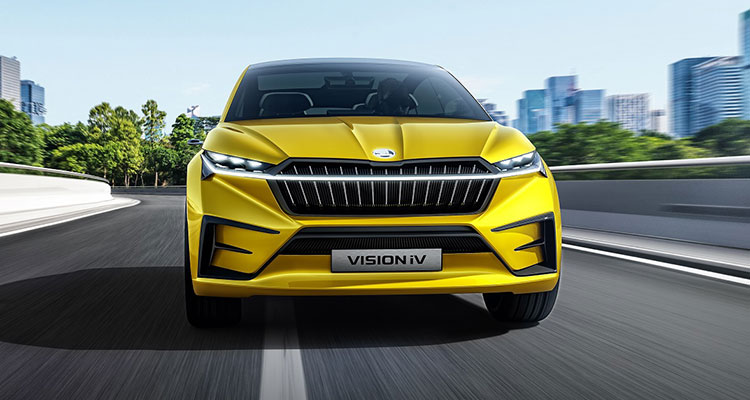 Skoda VISION iV SUV coupe front 1
