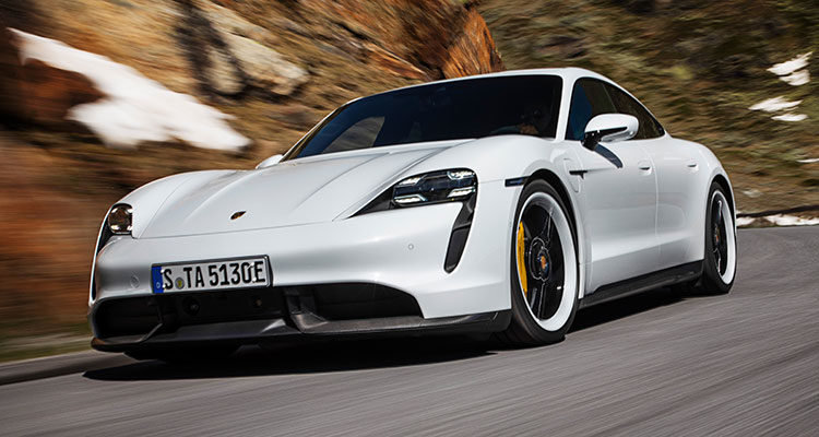 Porsche's New All-Electric 761bhp Taycan Turbo S