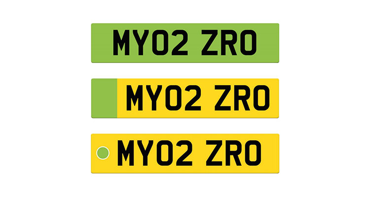 Electric Vehicle Green Plates