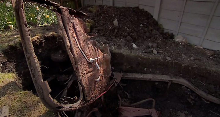 Classic Ford Popular found buried in garden