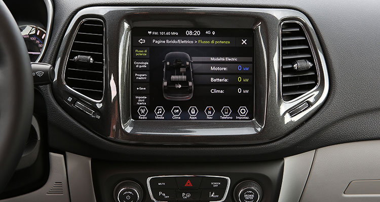 Jeep Compass Limited Edition infotainment system